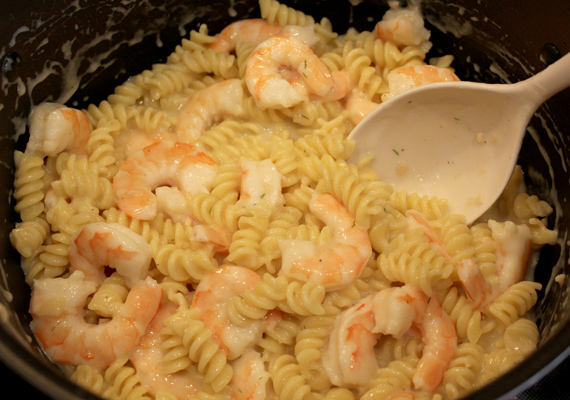 Add Shrimp to Pasta