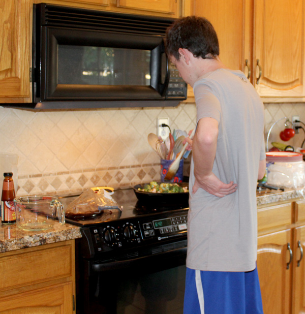 Bryce Cooking Beef and Broccoli Stir Fry