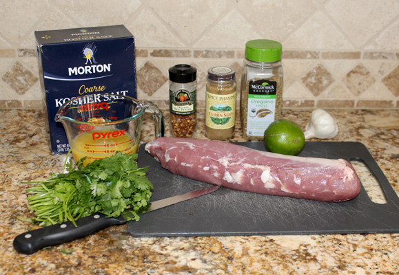Ingredients for Cuban Grilled Pork Tenderloin