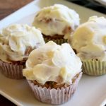 Zucchini Muffins with Cream Cheese Frosting