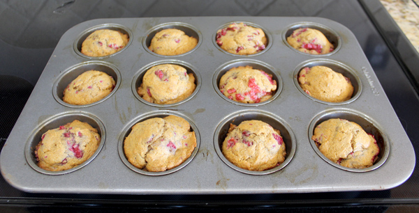 Let muffins cool in tin for 5 minutes before removing to a wire rack.