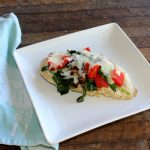 Baked Chicken Breast with Spinach Peppers and Mozzarella