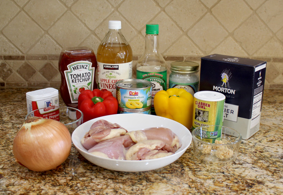 Ingredients for Instant Pot Sweet and Sour Chicken
