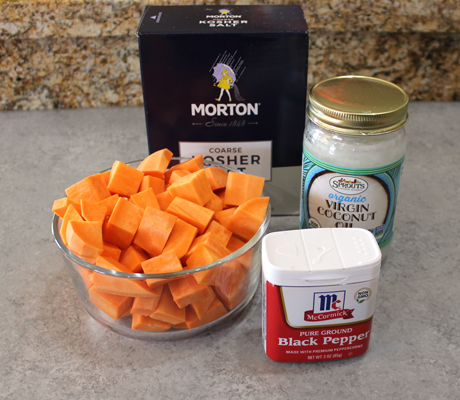 Ingredients for oven roasted sweet potatoes