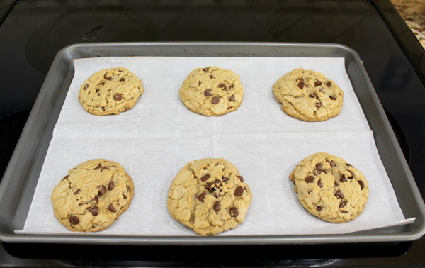 Let the cookies cool on the cookie sheet