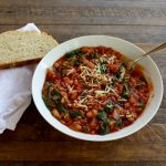 Slow Cooker Tomato and White Bean Soup