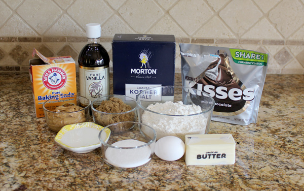Ingredients for Peanut Butter Blossoms