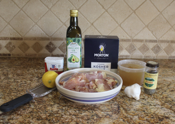 Ingredients for Instant Pot Lemon Chicken Thighs