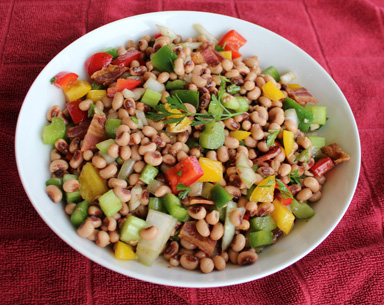 New Year's Hoppin' John Salad